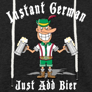 Instant German Just Add Bier Beer - Light Unisex Sweatshirt Hoodie
