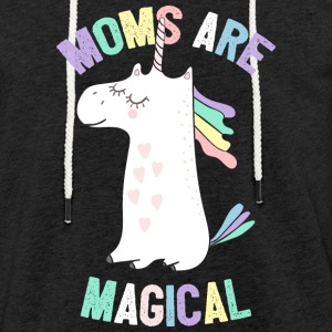 Moms Are Magical Unicorn - Mother 's Day - Light Unisex Sweatshirt Hoodie