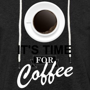 Coffee_time - Lätt luvtröja unisex