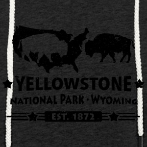 Bison Buffalo Buffalo Yellowstone National Park USA - Lekka bluza z kapturem – typu unisex