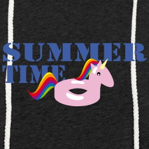 Summerime Unicorn - Sweat-shirt à capuche léger unisexe
