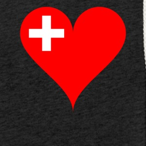 SWITZERLAND HEART T-SHIRT - Light Unisex Sweatshirt Hoodie