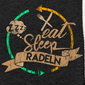 Eat Sleep Radeln Repeat - Leichtes Kapuzensweatshirt Unisex