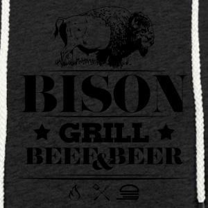 Grill · Barbecue · Bison - Sweat-shirt à capuche léger unisexe
