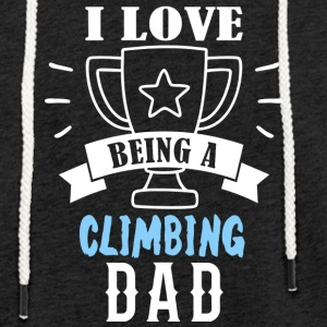 climb father dad - Light Unisex Sweatshirt Hoodie