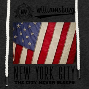 New York · Williamsburg - Lett unisex hette-sweatshirt