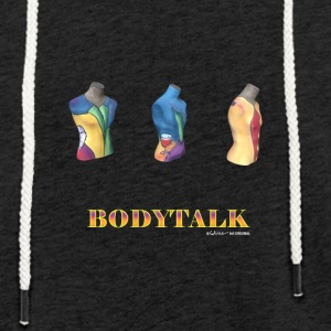 Body Talk - Let sweatshirt med hætte, unisex
