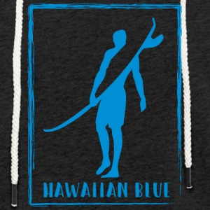 Logo Hawaiian Blue Surfer - Sweat-shirt à capuche léger unisexe