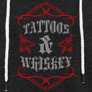 Tatouage / Tattoo: Tatouage & Whiskey - Sweat-shirt à capuche léger unisexe