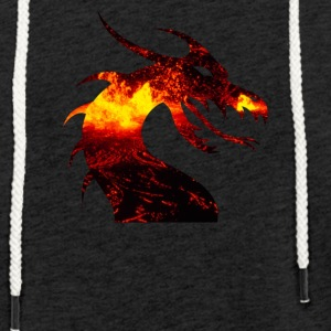 Dragon on fire - Light Unisex Sweatshirt Hoodie