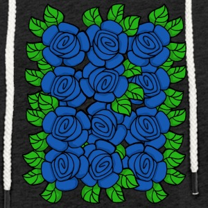 Blue Roses (Transparent) - Sweat-shirt à capuche léger unisexe