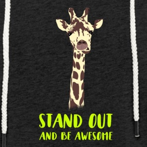 giraffe stand up tall prompt demanding hi - Light Unisex Sweatshirt Hoodie