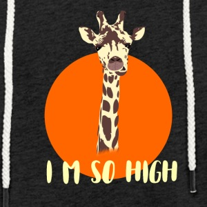 giraffe high level neck big sun animal orange nied - Light Unisex Sweatshirt Hoodie