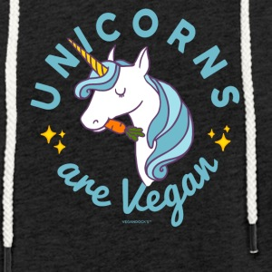Unicorn T-shirt - Unicorns er Vegan (Blue Magic) - Let sweatshirt med hætte, unisex