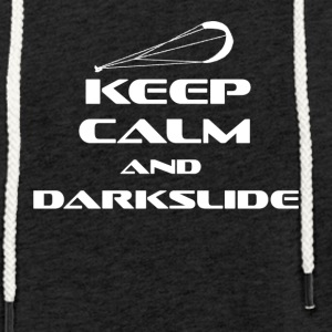 KITESURFING - KEEP CALM AND DARKSLIDE - Leichtes Kapuzensweatshirt Unisex