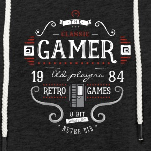 retro game nerd it geek play 1984 8bit console lol - Leichtes Kapuzensweatshirt Unisex