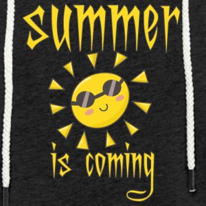 summer is coming - Leichtes Kapuzensweatshirt Unisex