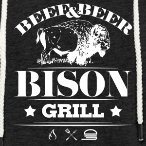Grill · Barbecue · Bison - Light Unisex Sweatshirt Hoodie