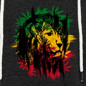 Cannabis Rasta Lion - Light Unisex Sweatshirt Hoodie