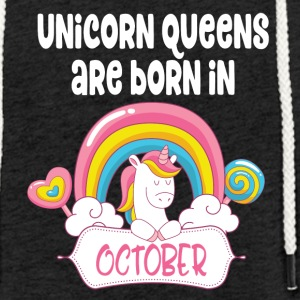 Unicorn Queens are born in October - Light Unisex Sweatshirt Hoodie
