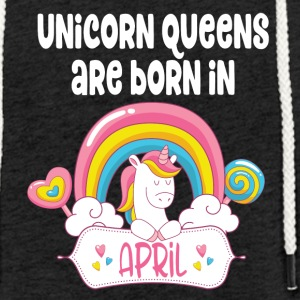Unicorn Queens are born in April - Leichtes Kapuzensweatshirt Unisex