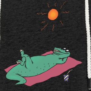 sun crocodile - Light Unisex Sweatshirt Hoodie