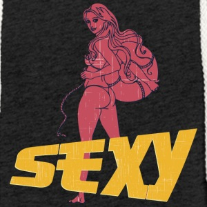 sexy hot ass girl vintage - Light Unisex Sweatshirt Hoodie