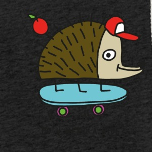 Skater Igel by cheslo - Light Unisex Sweatshirt Hoodie