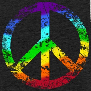 Peace sign Pace Peace Rainbow Grunge colorful - Light Unisex Sweatshirt Hoodie