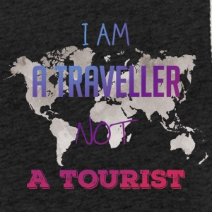 I am a traveller not a tourist - Leichtes Kapuzensweatshirt Unisex