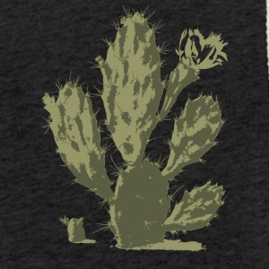 Pear Cactus in Bloom - Lett unisex hette-sweatshirt