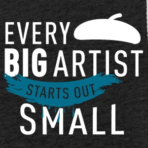 every artist starts small - Light Unisex Sweatshirt Hoodie