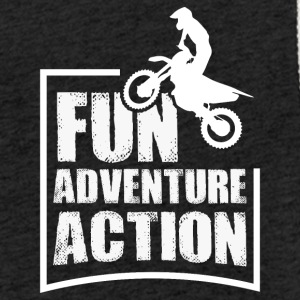 Enduro FUN ADVENTURE ACTION - Lekka bluza z kapturem – typu unisex