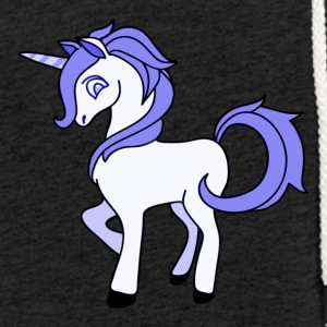 pourpre Unicorn - Sweat-shirt à capuche léger unisexe