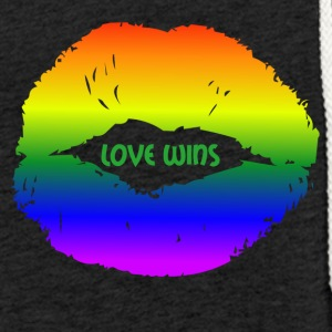LOVE WINS lips - Sweat-shirt à capuche léger unisexe