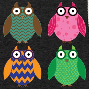 Four colorful owls - Light Unisex Sweatshirt Hoodie