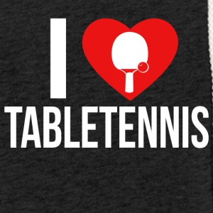 I LOVE TABLETENNIS WHITE - Leichtes Kapuzensweatshirt Unisex