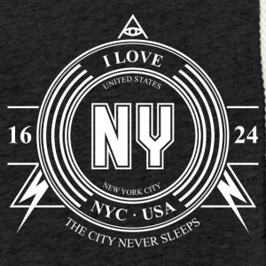 New York Badge - Lett unisex hette-sweatshirt