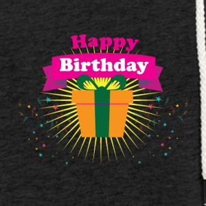 happy Birthday - Lett unisex hette-sweatshirt