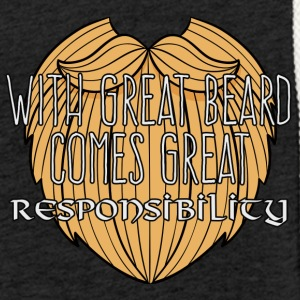 Wikinger: With Great Beard Comes Great Responsibil - Leichtes Kapuzensweatshirt Unisex