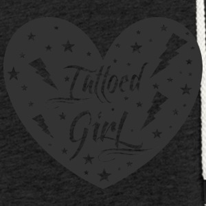 tattoed_girl - Lett unisex hette-sweatshirt