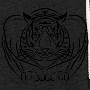 tiger wild cat cat - Light Unisex Sweatshirt Hoodie
