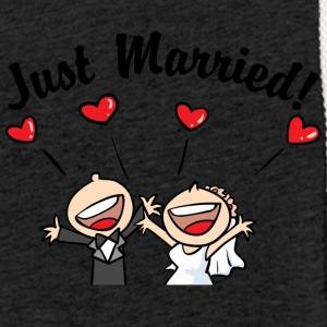 Just Married In Love - Felpa con cappuccio leggera unisex