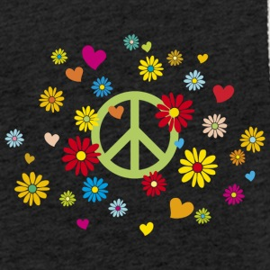 Peace Sign Flower Heart Flower Child Valentine - Let sweatshirt med hætte, unisex