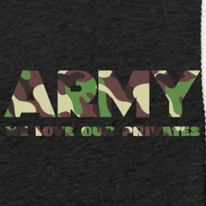 Militære / Soldiers: Army - We Love Our Private - Lett unisex hette-sweatshirt