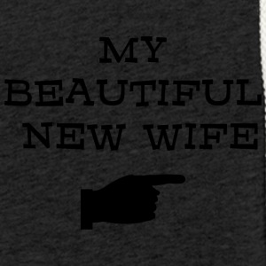 Just Married My Beautiful nye kone - Lett unisex hette-sweatshirt
