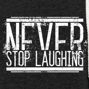Aldrig Stop Laughing Old White 001 runde design - Let sweatshirt med hætte, unisex