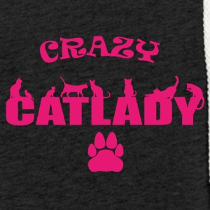 CRAZY Catlady pink - limited - Light Unisex Sweatshirt Hoodie