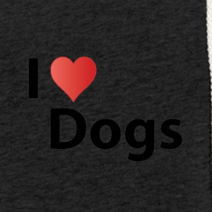 i love dogs - Sweat-shirt à capuche léger unisexe