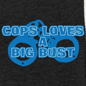 Police: Cops Loves A Big Bust - Light Unisex Sweatshirt Hoodie
